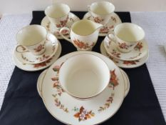 Early 1900 Royal Doulton 15 Piece Tea Set