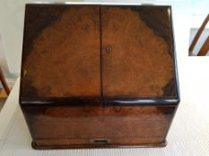 Victorian Walnut Desk Tidy/ Work Box