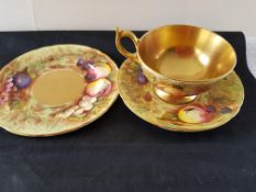 Vintage Aynsley Trio Orchard Gold