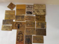 Collection of Brass 1980's Steam Rally and Country Faif Plaques