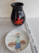 Poole Pottery Jug and Plate