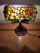 Dragon Fly Tiffany Banker Lamp