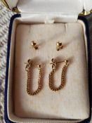 Vintage 9ct Gold Earrings