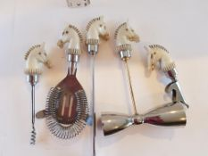 Unusual Horse's Head Cocktail Tools