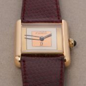 Cartier Must de Cartier 215806 Ladies Gold Plated Watch