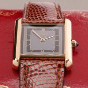 Cartier Must de Cartier Tank 691006 Ladies Gold Plated Paris Watch