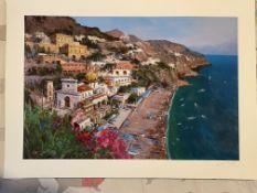 Antonio Iannicelli Signed Print 'Ischia'
