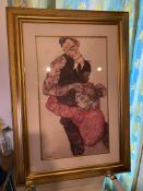 Egon Schiele print entitled ''Self Portrait with Wally''