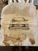 Original Canvas Of a VW Golf.