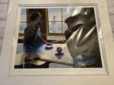 Mak Keller Espresso By The Bay Signed Limited Edition Print. RARE