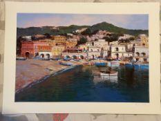 Antonio Iannicelli Signed print 'Positano' Collectable