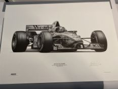 Alan Stammers Signed Artist Proof of David Coulthard