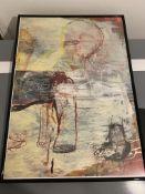 Jukka Suhonen Original Painting, The Dog Has The Same Journey