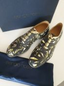 Designer Sergio Rossi Multi Colour Lace Up Man's Shoes Rrp £800 Size - 7