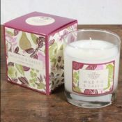 5 X The Country Candle Company Wild Fig & Cassis Glass Candle In Gift Box