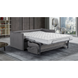 AIMEE Italian Crafted 3 Seat Sofa Bed in PLAZA GREY. RRP £1979