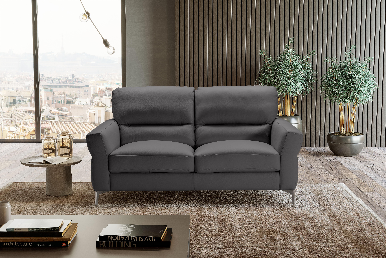 WINONA Italian Leather 3 & 2 Seat Sofas - Dark Grey Grigio RRP £3699 - Image 3 of 3