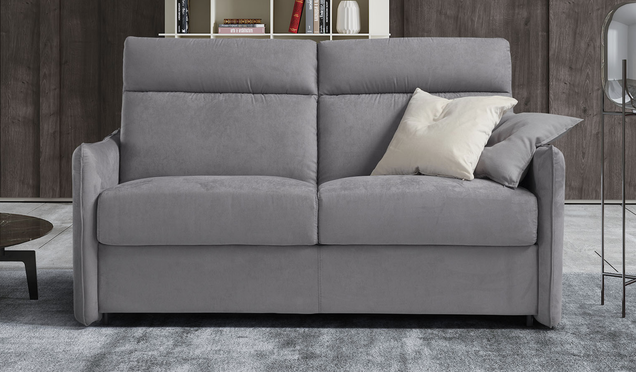AIMEE Italian Crafted 3 Seat Sofa Bed in PLAZA SILVER RRP £1979 - Image 2 of 5