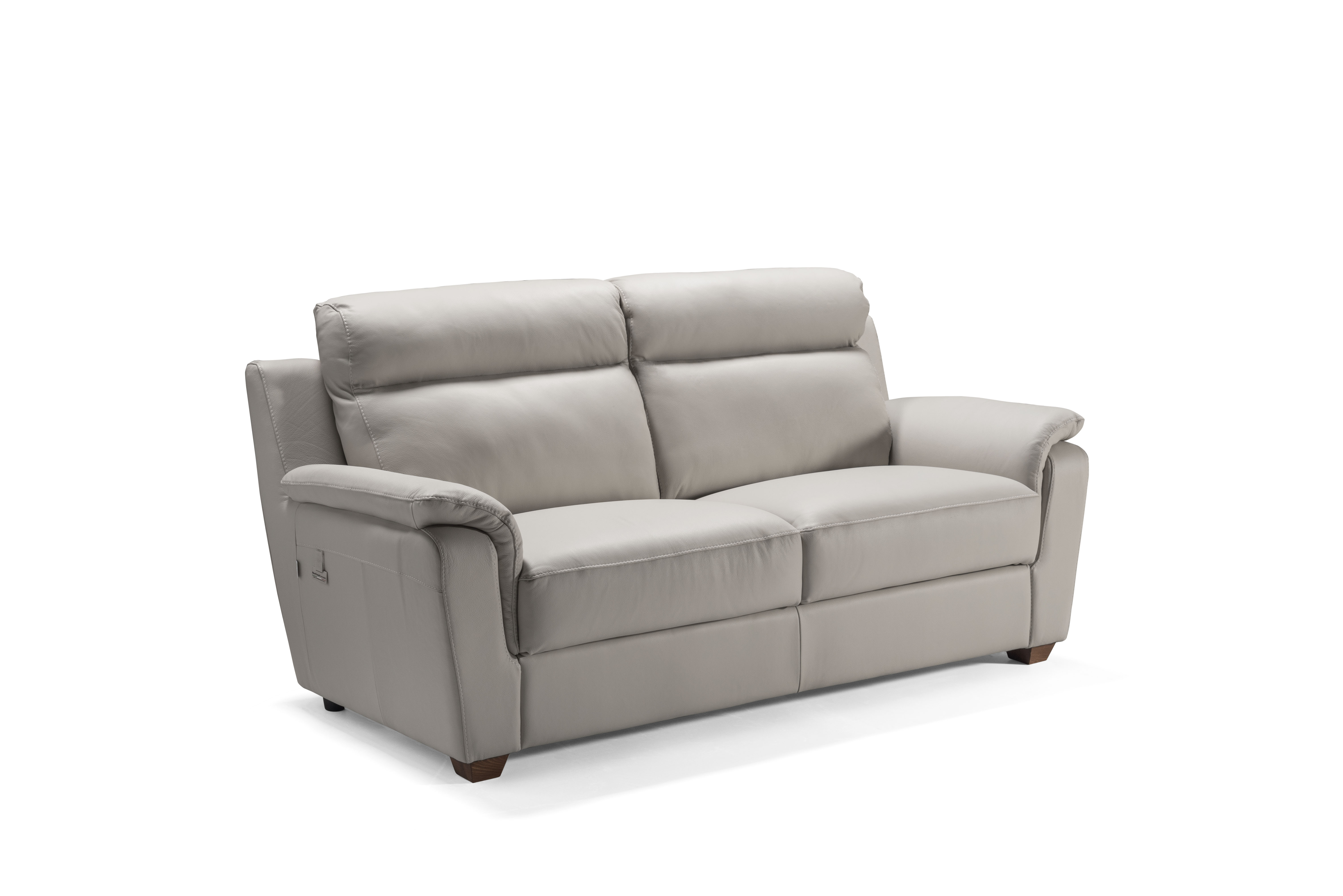 EDNA Italian Leather 3 & 2 Seat Sofas - Light Grey Cenere. RRP £3399 - Image 2 of 4