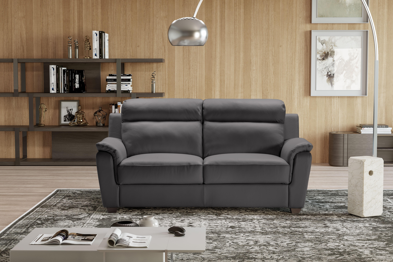 EDINA Italian Leather 3 & 2 Seat Sofa - Dark Grey Grigio RRP £3399 - Image 4 of 4