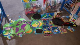 (R3M) Contents Of Floor : Mixed Outdoor Toys To Include Kid Connection Throw & Catch Set, Xshot Ste