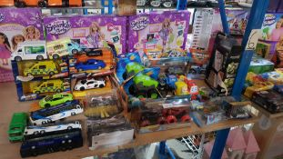 (R3M) Approx. 35 X Mixed Toy Cars To Include Adventure Force Die Cast Light & Sounds, Monster Jam,
