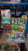 (R3K) 9 Items : 3 X Little Tikes Light & Sound Microphone, 1 X Fisher Price Game Learn Controller,