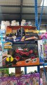 (R3M) 2 Items : 1 X Hot Wheels Monster Trucks RC Boneshaker & 1 X Adventure Force Utility Vehicle