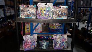(R3K) 6 X My Little Pony Items : 1 X Pinkie Pie, 1 X Fluttershy, 1 X Rarity. 1 X Rarity On The Go P