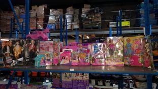 (R3L) 14 Items : Mixed Dolls Set To Include Barbie Skipper, Potty Training Pup, Travel, Vet, Club C