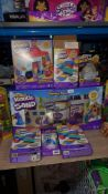 (R3E) 7 Kinetic Sand Items To Include Variety Pack, Ice Cream Truck, 3 X Rainbow Mix set, Rock & N