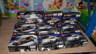 (R3G) 9 Lego Speed Champion Items : 6 X Forza Horizon 4, 2 X McLaren Senna & 1 X GTR Nismo