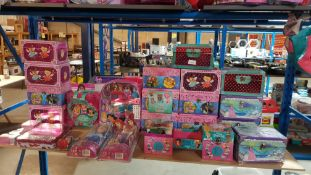 (R3P) Approx. 25 Items : To Include Disney Princess Activity Journal / Keepsake Boxes, Craft & Beed