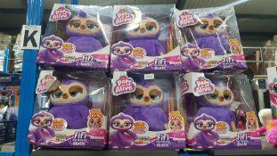 (R3J) 6 X Zuru Pets Fifi The Flossing Sloth
