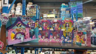 (R3K) 6 X My Little Pony Items To Include 2 X Rainbow Rocks Sweetie Drops, 1 X DJ Pon 3, 1 X Friend