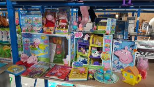(R3J) Approx. 24 X Peppa Pig Items. To Include Cook N Camp Set, Peppa Family Home, Peppa Cinderella