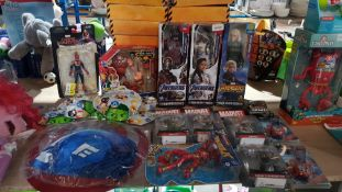 (R3K) Approx. 25 X Mixed Marvel Items To Include 3 X Titan Heroes Figures, 4 X Infinite Series, 1 X