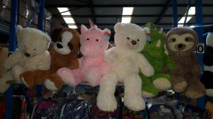 (R7O) 6 X Large Kid Connection Soft Toys