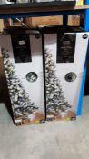 (R7G) 4 X Snowy Tree Pre Lit (6Ft, 1.8M) RRP £50 Each