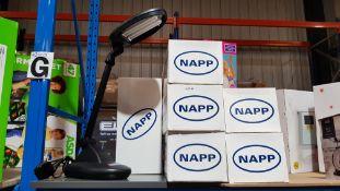 (R7F) 6 X Napp Adjustable Table Lamp Black (New)