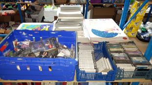 (R7K) Contents Of 3 Containers : A Quantity Of Mixed Pre Recorded Cassette Tapes (Most Sealed) . To