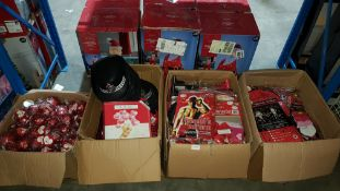 (R7K) Contents Of 4 Boxes : Mixed Valentine Items To Include Fall In Love Glitter ball Candles, WPC