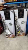 (R7E) 4 X Snowy Tree Pre Lit (6Ft Ð 1.8M) RRP £50 Each