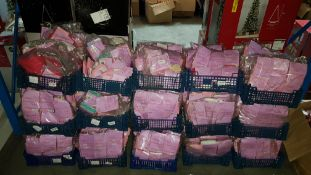 (R7L) Contents Of 15 Baskets : A Quantity Of Girls Supersoft Tights Pink To Include Ages 0-6, 6-12