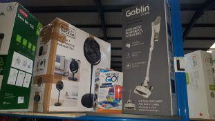 (R7L) 3 Items : 1 X Goblin GS300 2 In 1 Cordless Vacuum Cleaner, 1 X Black & Decker 16Ó 3 In 1 High