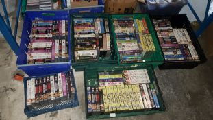 (R7P) Contents Of 6 Containers : Approx. 130 X Mixed Title Original VHS Tapes. To Include Batman, Wa