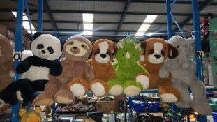 (R7N) 6 X Large Kid Connection Soft Toys