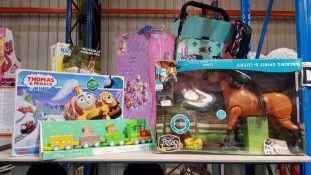 (R7D) 3 Items : 1 X Dreamworks Spirit Walking Spirit & Lucky, 1 X Thomas & Friends Minis & 1 x Disn
