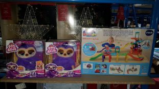 (R7L) 3 Items : 2 X Zuru Pets Alive & 1 X Vtech Toot Toot Drivers Ultimate Parking Tower