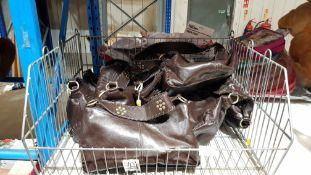 (R7C) 8 X Brown Clutch Bag (New)